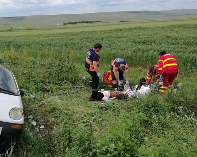 Două minore rănite în urma unui accident rutier