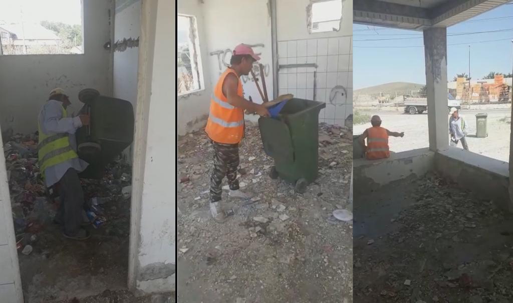 O fostă benzinărie din Babadag, transformată în depozit de gunoaie