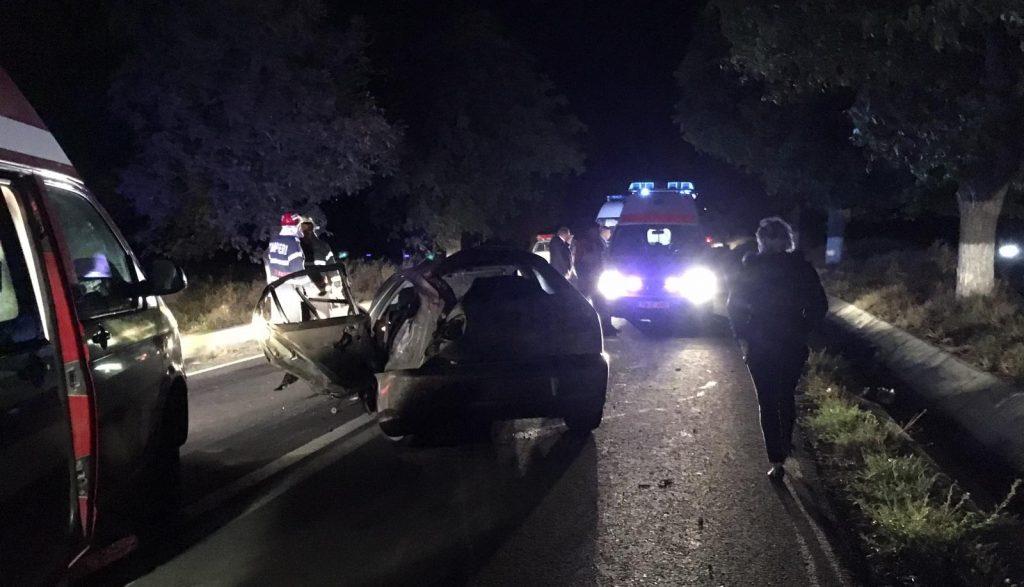 Accident teribil cu doi răniți grav, aproape de Babadag. Cauza : viteză și depășire neregulamentară