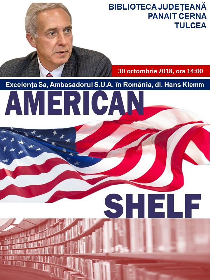 Ambasadorul american Hans Klem va face o donație de carte la Biblioteca Judeţeană