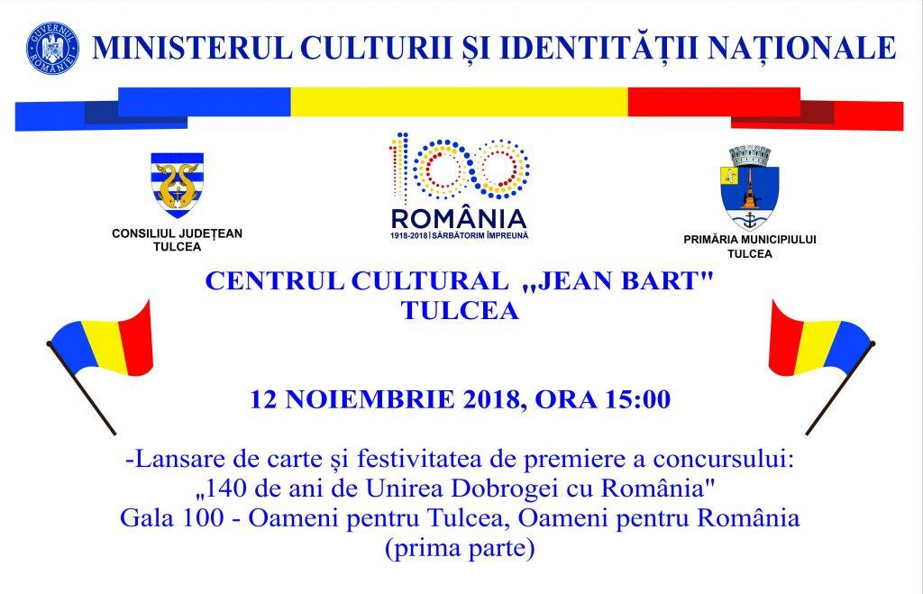 Consiliul Județean Tulcea sărbătorește Centenarul Marii Uniri: Ședință comună a Consiliilor Județene Tulcea și Constanța și Gala 100
