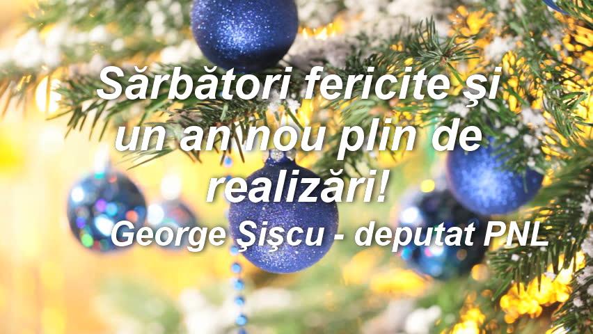 Deputatul PNL, George Şişcu, vă urează