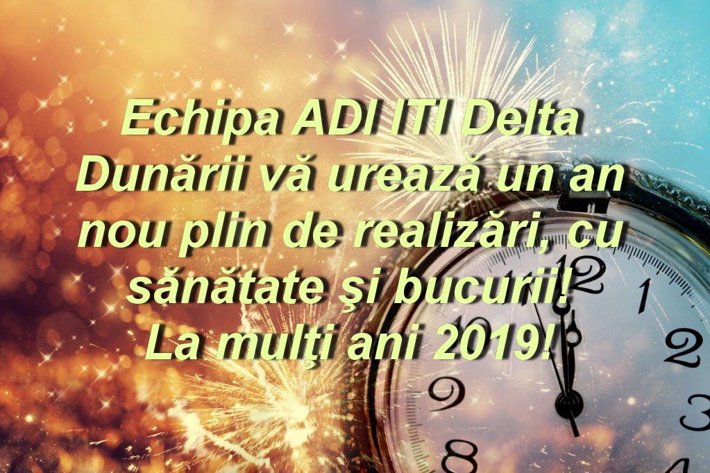 Cu ocazia anului nou, ADI ITI Delta Dunării vă urează