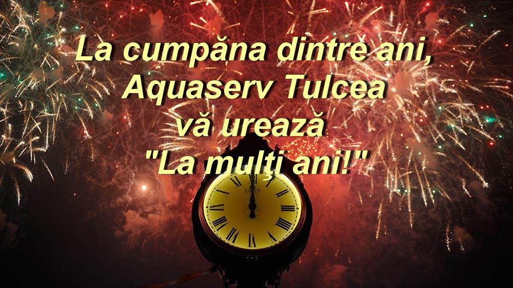 Cu ocazia anului nou, Aquaserv vă urează