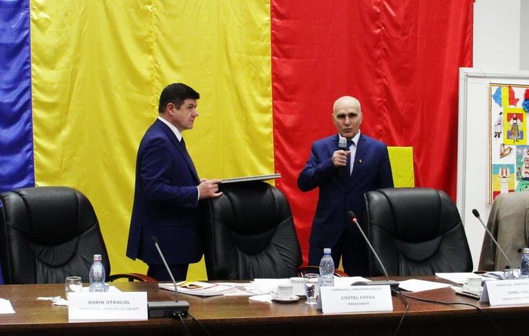 Viceprimarul Petre Marinescu este cetăţean de onoare al judeţului Galaţi