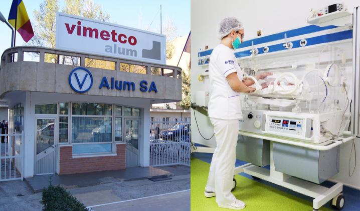 Sponsorizare de o sută de mii de lei de la Alum SA pentru o secţie din Spitalul Judeţean Tulcea