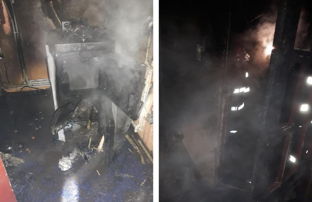 Incendiu la Măcin, pornit de la o centrală cu lemne