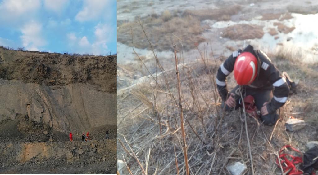 Două copile de 15 ani, căzute în cariera Bididia, salvate de alpiniştii salvatori ai ISU Tulcea
