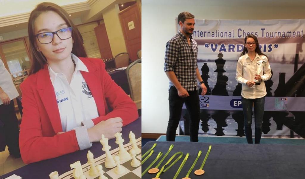 Campioana internațională la șah Beatrice Hristea a obținut primul titlu în Grecia