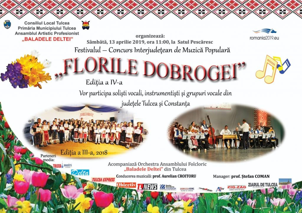 """Festivalul - concurs interjudețean de muzică populară """"Florile Dobrogei""""- ediția a IV-a"""