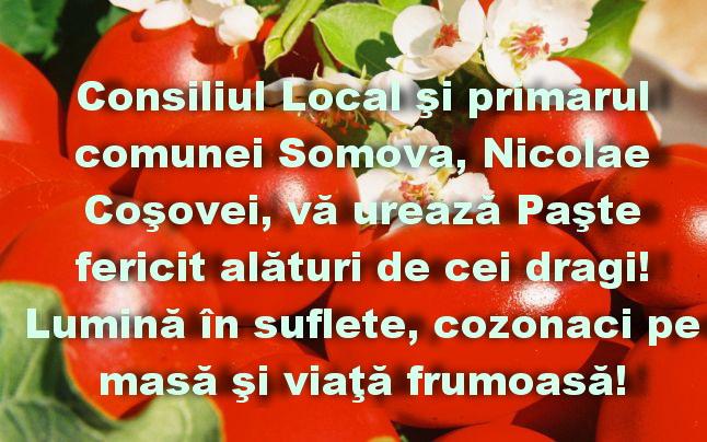 Consiliul Local și Primăria Somova vă urează Paşte fericit!