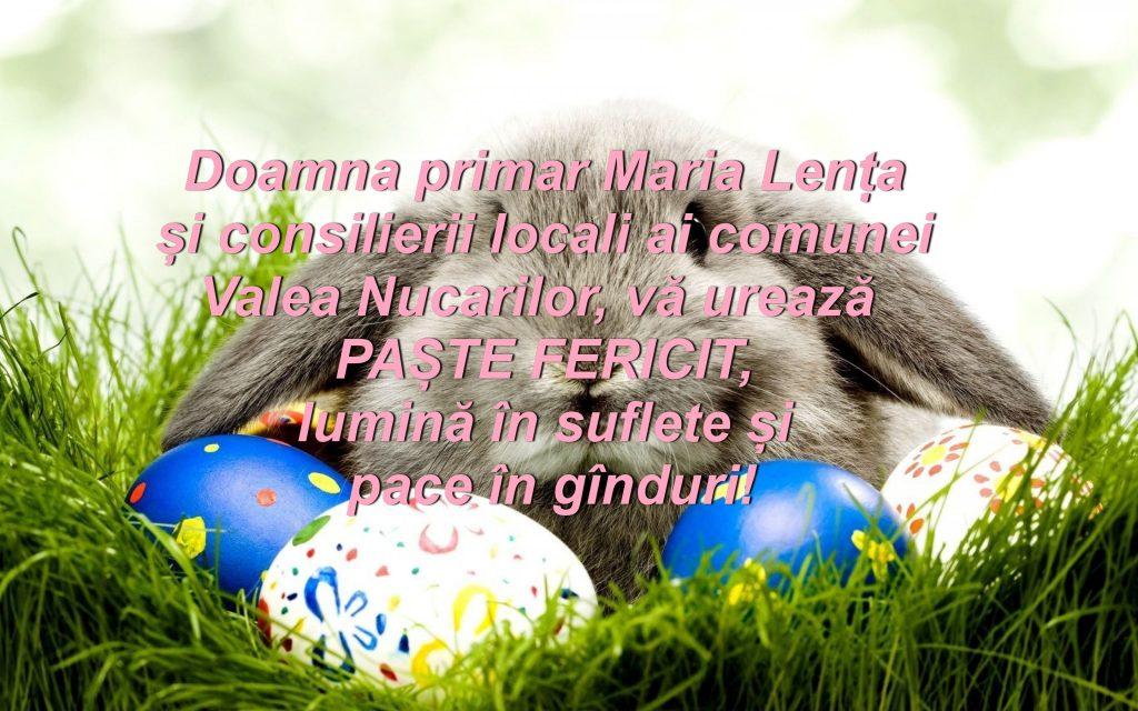 Consiliul Local și Primăria Valea Nucarilor vă urează Paşte fericit!