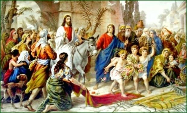 Azi serbăm Duminica Floriilor - Intrarea Domnului în Ierusalim