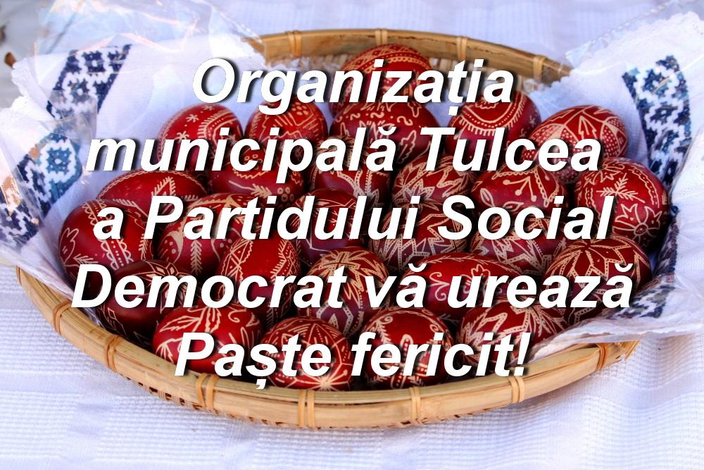 Organizația municipală a Partidului Social Democrat vă urează Paște fericit!