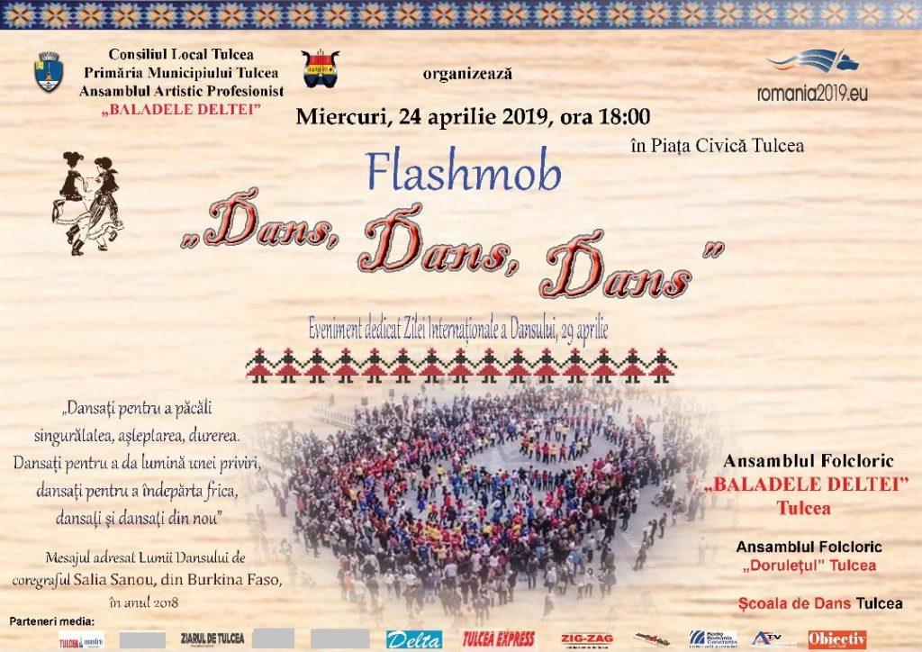 """Flashmob """"Dans, Dans, Dans"""" -24 aprilie, Piața Civica"""