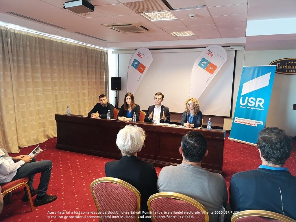 USR propune zero taxe pe salariul minim, una dintre măsurile -far- incluse în programul de guvernare prezentat la Tulcea de Deputații USR Cristina Prună și Claudiu Năsui