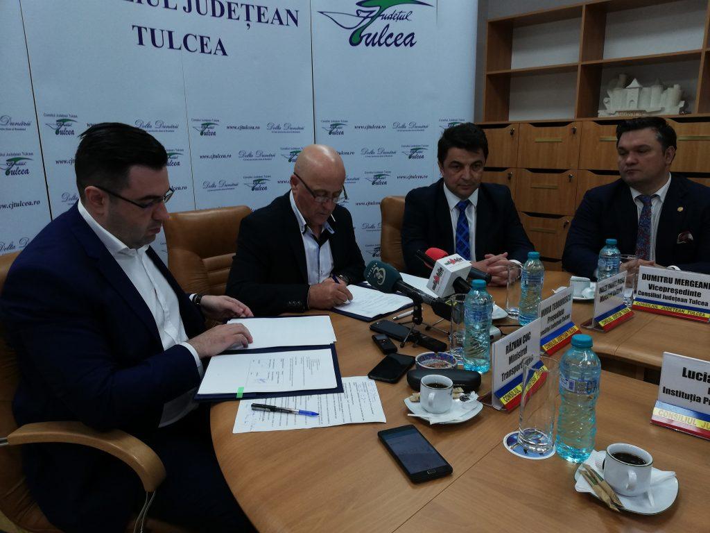 A fost semnat contractul de finațare pentru modernizarea Portului Tulcea