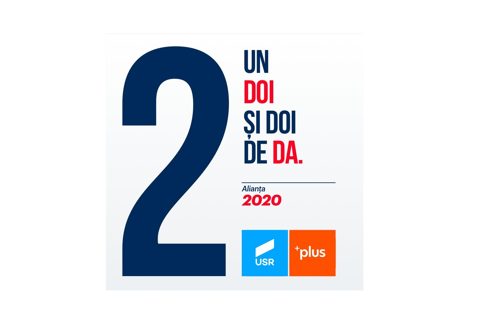 Alianța 2020 USR PLUS este pe poziția 2 pe buletinul de vot! (P)
