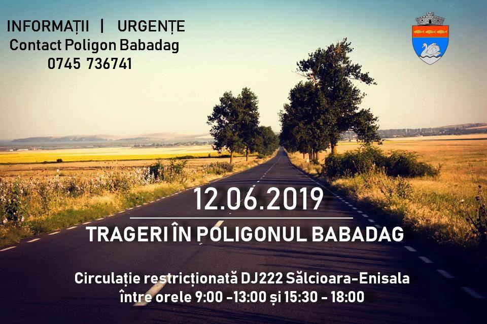 Circulație restricționată în zona Poligonului Babadag