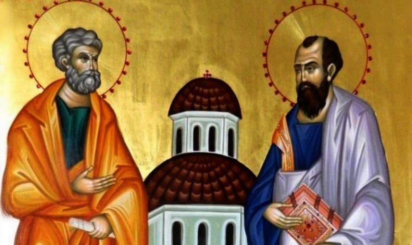 Azi îi serbăm pe Sfinţii Apostoli Petru şi Pavel. La mulți ani celor care poartă aceste nume!