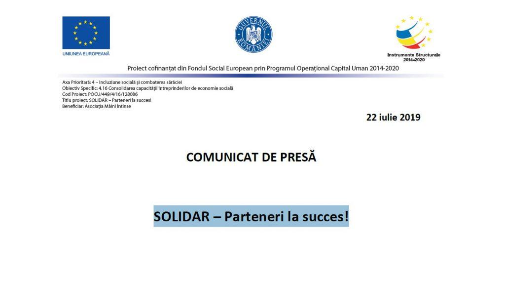 SOLIDAR – Parteneri la succes!