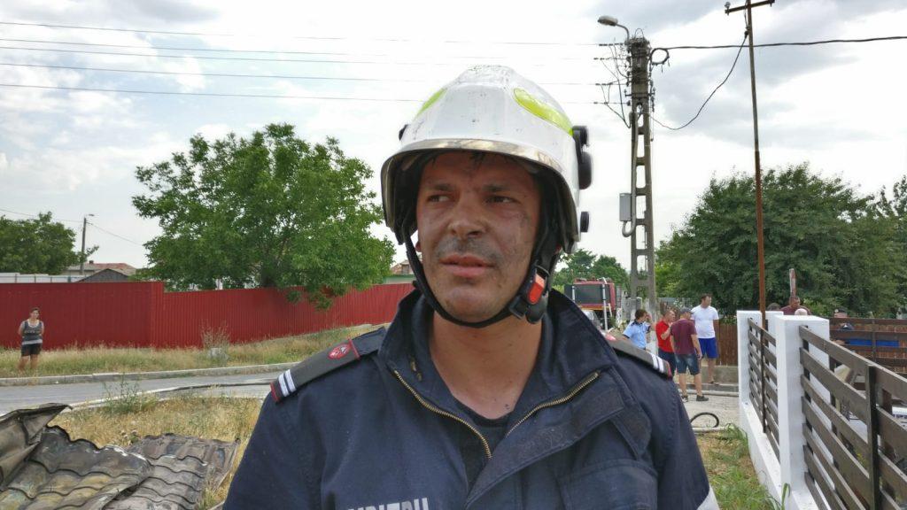 Locotenentul erou din Babadag a salvat trei oameni din flăcări!