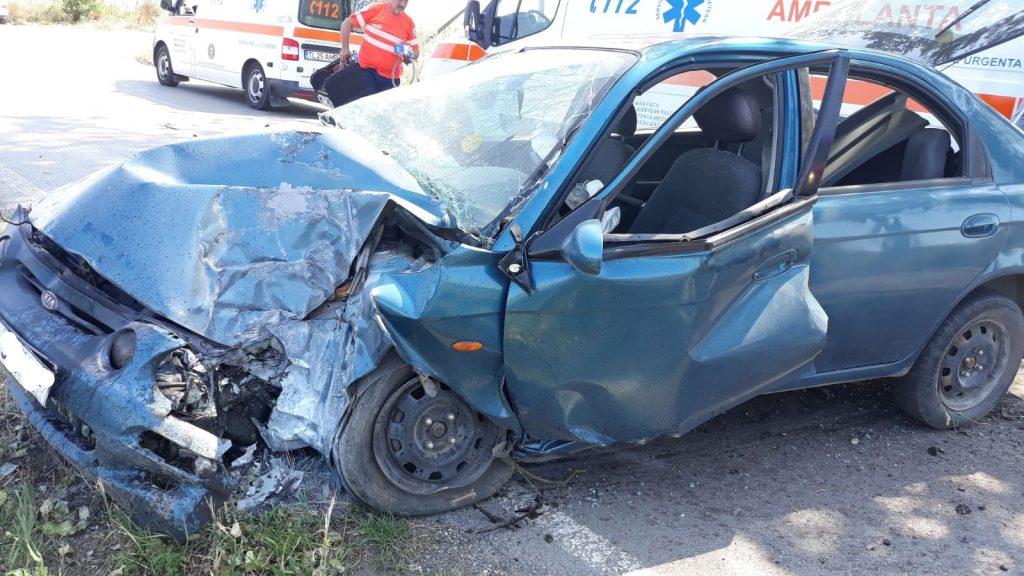 Doi răniţi în accident pe drumul spre Agighiol (Video)
