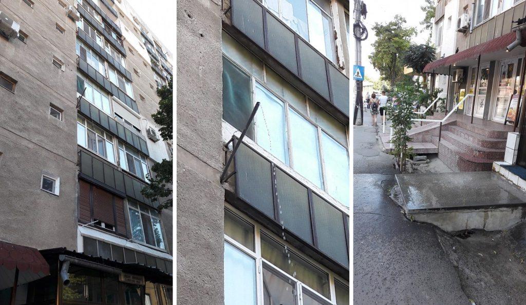 Apa reziduală din balcon curge direct în capul tulcenilor