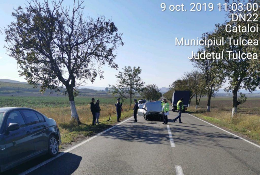 Accident aproape de Cataloi, cu patru maşini implicate şi trei persoane rănite