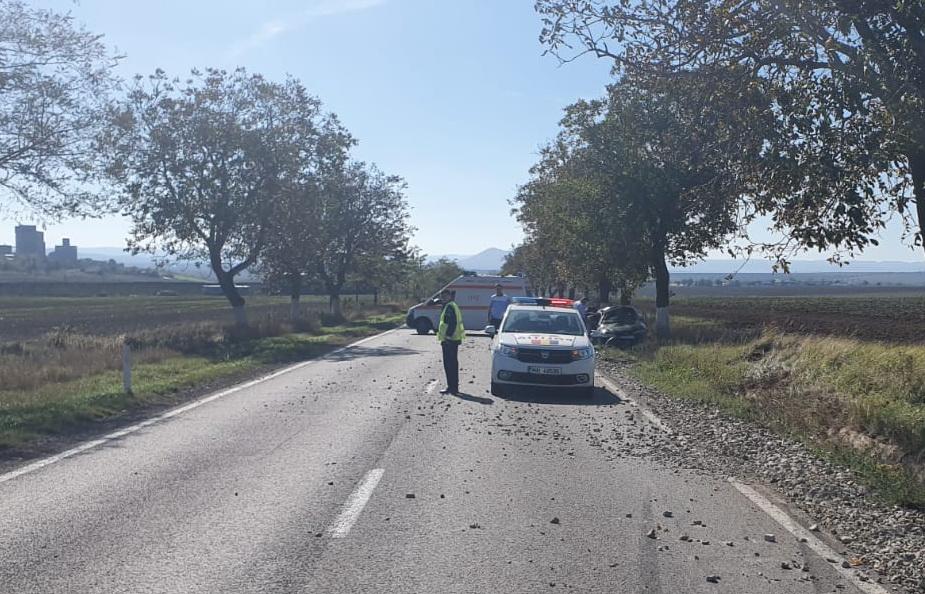 Un tulcean s-a înfipt cu maşina în copac aproape de Cataloi