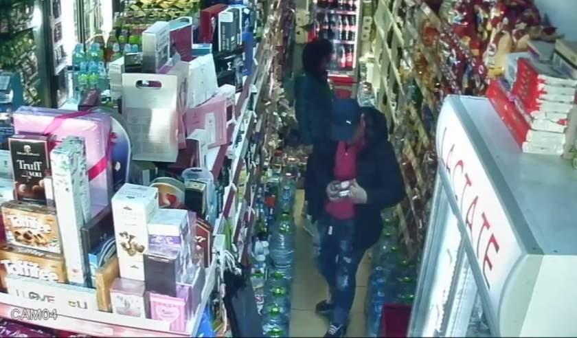 Ciorditor prins la scurt timp după ce a furat din magazin alcool şi delicatese
