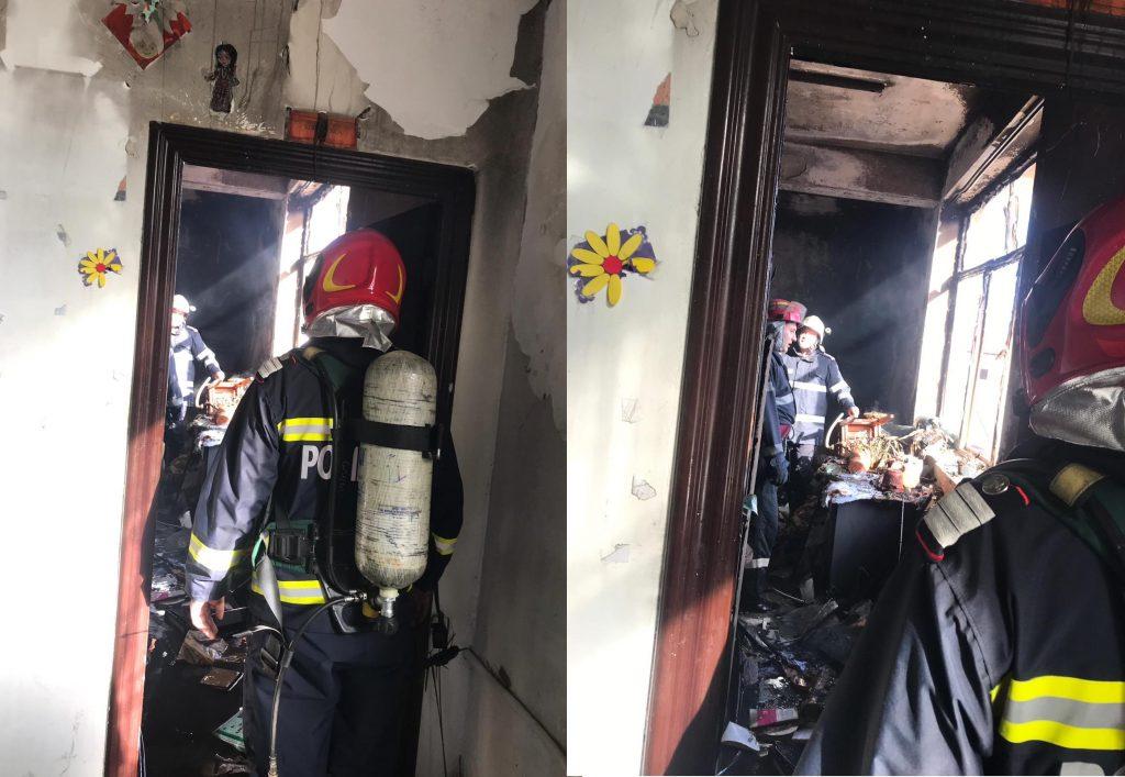 Incendiu la şcoala din Babadag. 200 de copii au fost evacuaţi (VIDEO)