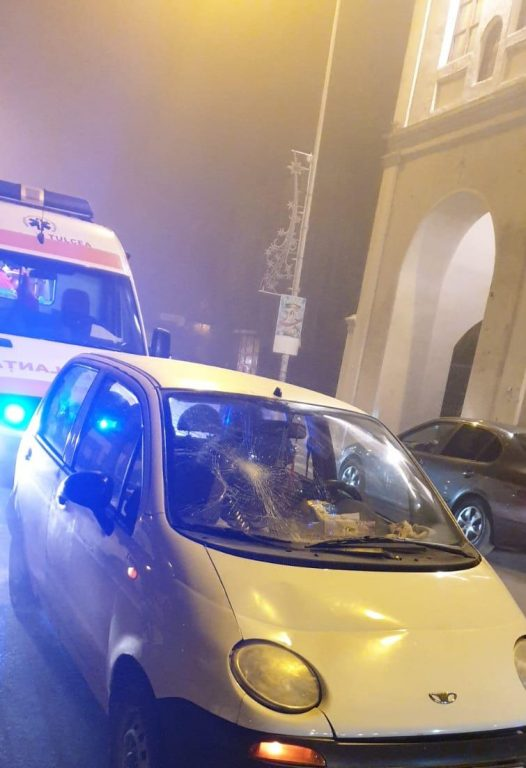 O fetiţă a fost accidentată pe strada Păcii