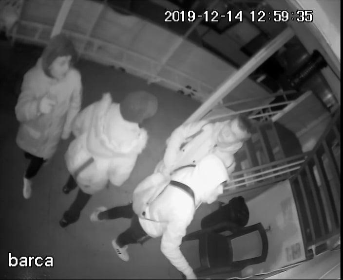 VIDEO - Patru tineri au distrus azi noapte pe faleză trei bărci şi un ponton