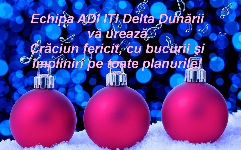 Echipa ADI ITI Delta Dunării vă urează Crăciun fericit!