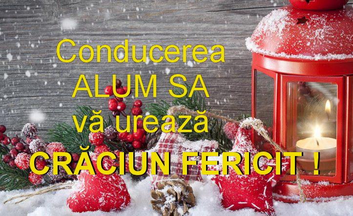 Conducerea Alum SA vă urează Sărbători fericite!