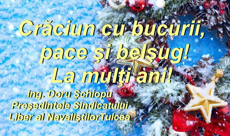 Sindicatul Liber al Navaliştilor vă urează Crăciun Fericit!