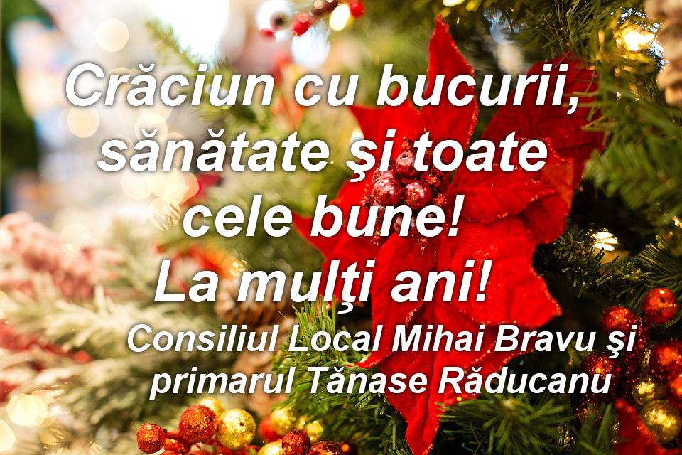 Consiliul Local şi Primăria Mihai Bravu vă urează