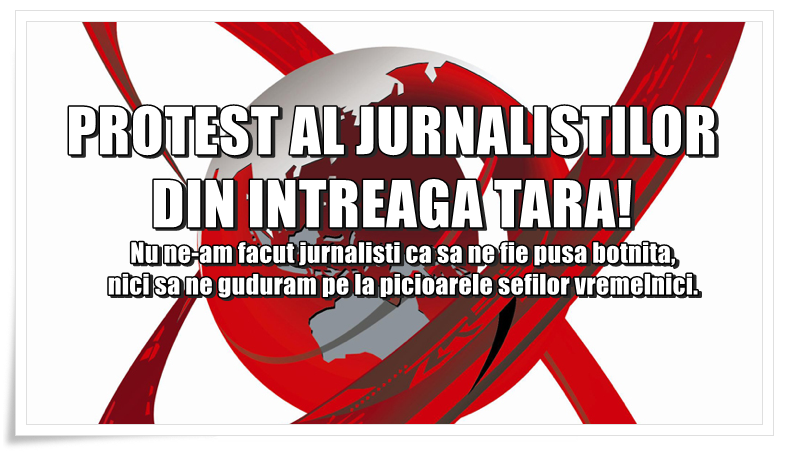 Protest masiv al jurnaliștilor împotriva Trustului Realitatea Media