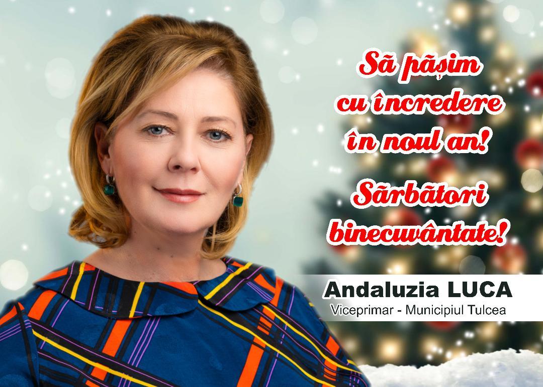 Mesajul de Crăciun al doamnei viceprimar Andaluzia Luca