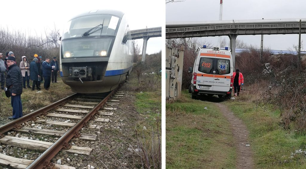 O femeie s-a runcat în fața trenului. Ca prin miracol, a supraviețuit