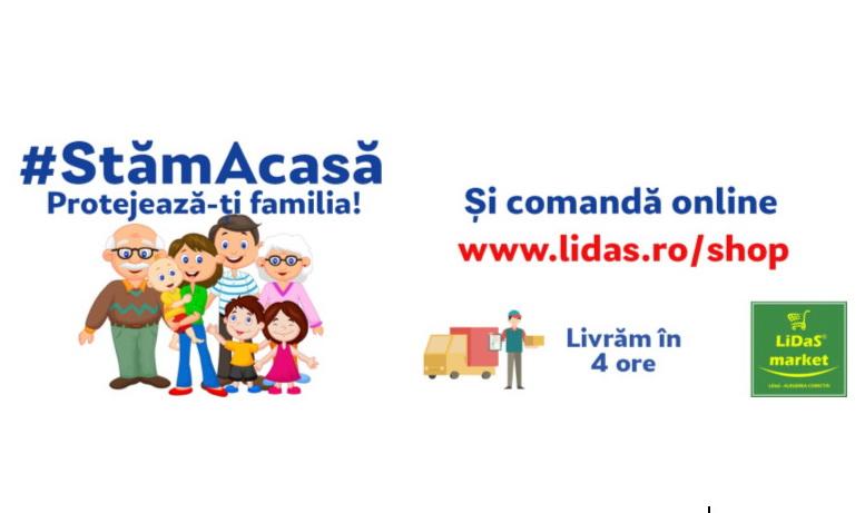 Lidas Market a lansat serviciul de comenzi online cu livrare la domiciliu pentru produsele din portofoliu