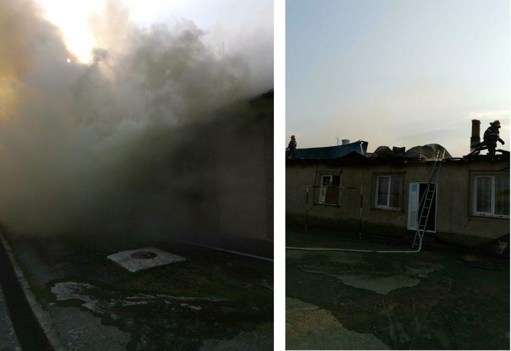 Incendiu la o anexă a Școlii din Grindu
