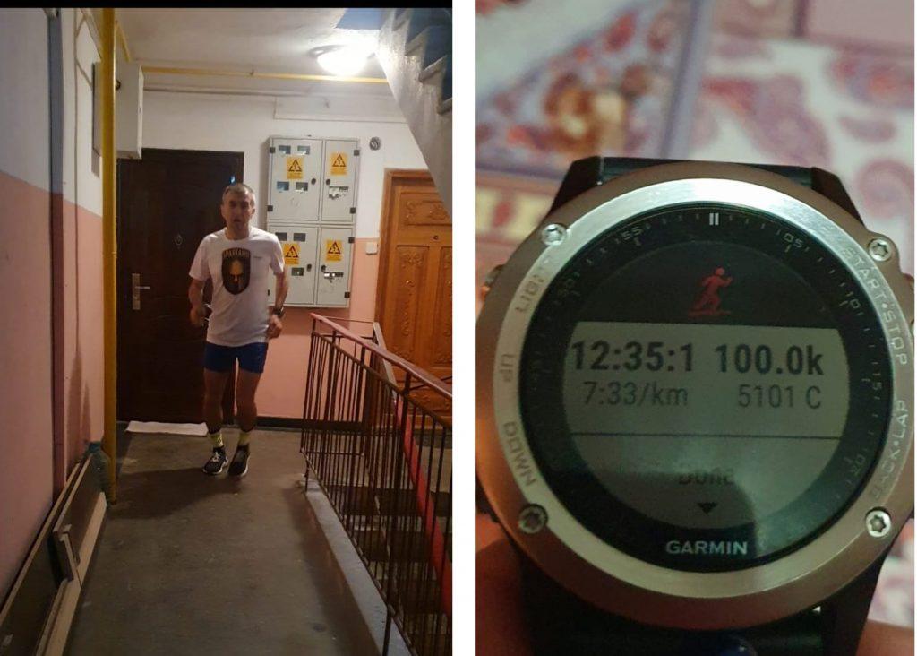 Jandarmul Sorin Andrici a alergat 100 de kilometri pe scări pentru copiii cu autism