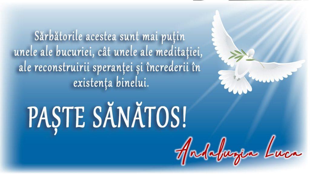 Paştele Catolic - Mesajul doamnei viceprimar Andaluzia Luca