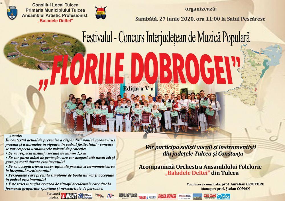 """Concurs Interjudețean de Muzică Populară """"Florile Dobrogei"""""""