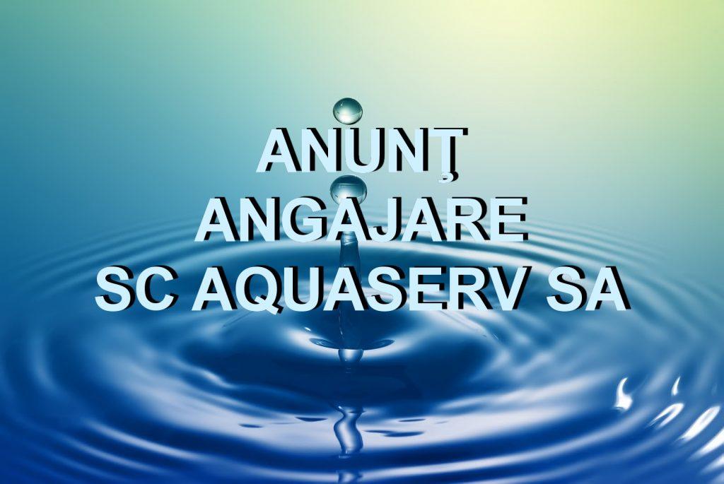 SC Aquaserv angajează şef Centru Operaţional la Măcin