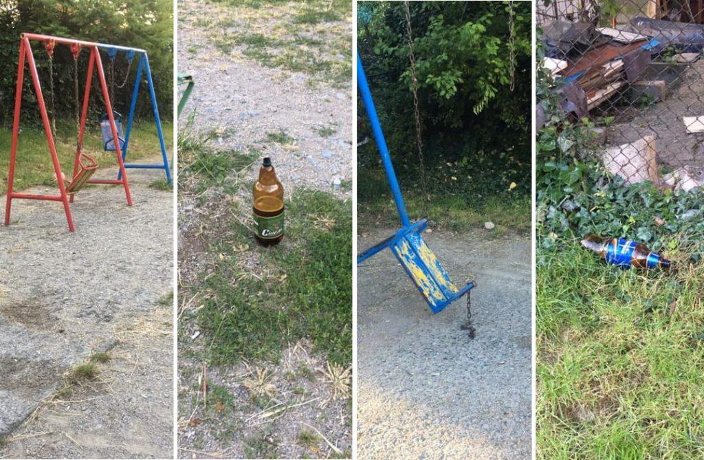 Parcurile sunt distruse în fiecare noapte de tineri beţi şi gălăgioşi. Bucuria vecinilor...