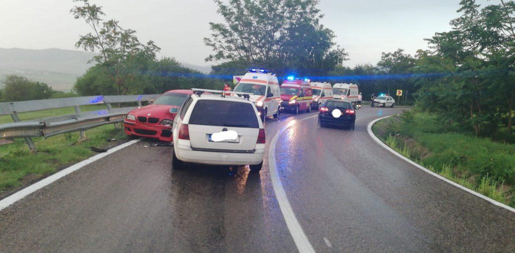 Accident la Horia produs de un gălăţean. Doi oameni au ajuns la spital