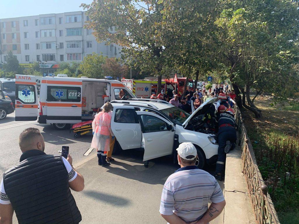 Accident în Vest. Un bărbat a ajuns la spital